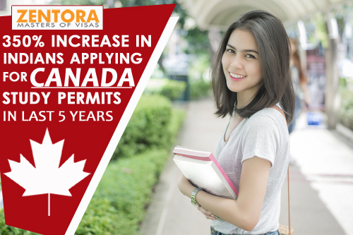 350% Increase in Indians Applying for Canada Study Permits in Last 5 Years