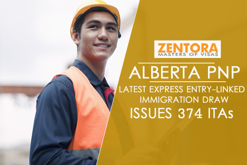 Alberta PNP: Latest Express Entry-Linked Immigration Draw Issues 374 ITAs