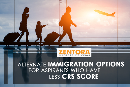 Alternate Immigration Options for Aspirants Who Have Less CRS Score