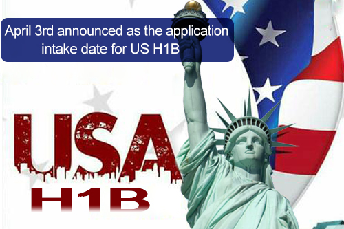 April 3rd announced as the application intake date for US H1B