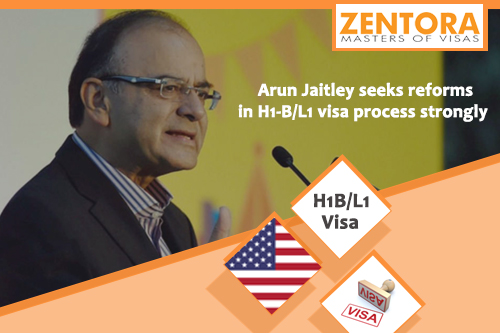 Arun Jaitley seeks reforms in H1-B/L1 Visa process strongly