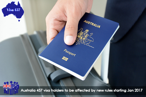 Australia 457 Visa holders to be affected by New rules starting Jan 2017