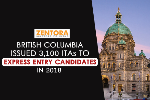 British Columbia Issued 3,100 ITAs to Express Entry Candidates in 2018