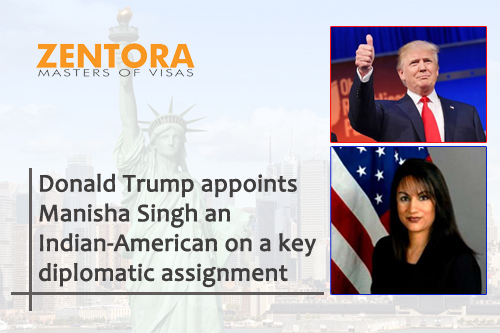 Donald Trump appoints Manisha Singh an Indian-American on a key diplomatic assignment