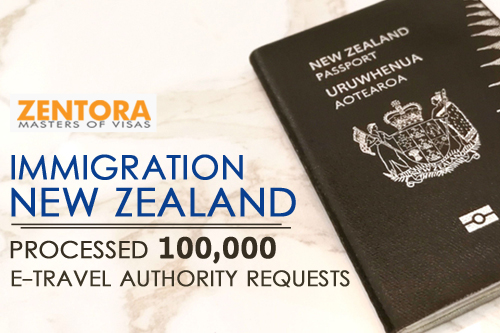 Immigration New Zealand: Processed 100,000 e-Travel Authority Requests