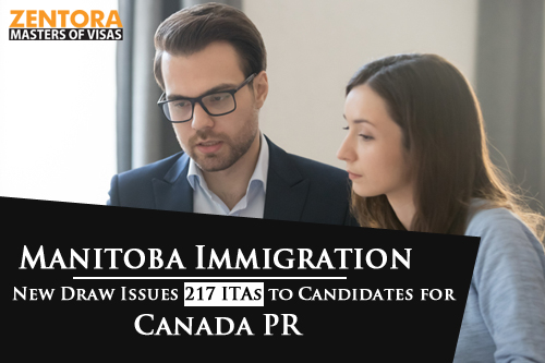 Manitoba Immigration: New Draw Issues 217 ITAs to Candidates for Canada PR