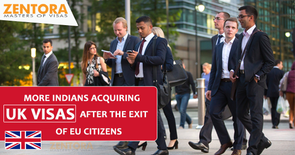 More Indians acquiring UK visas after the exit of EU citizens
