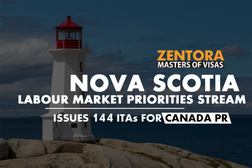 Nova Scotia Labour Market Priorities Stream Issues 144 ITAs for Canada PR