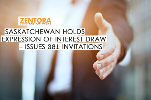 Saskatchewan Holds Expression Of Interest Draw - Issues 381 Invitations