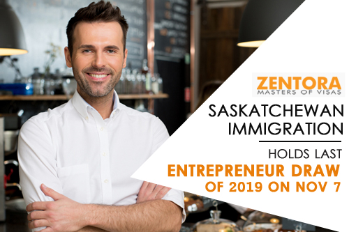 Saskatchewan Immigration: Holds Last Entrepreneur Draw of 2019 on Nov 7