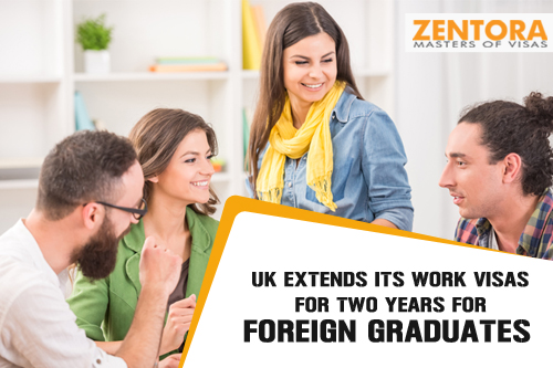 UK Extends Its Work Visas for Two Years for Foreign Graduates