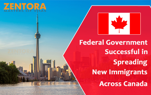 Federal Government Successful in Spreading New Immigrants Across Canada