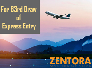 For 84th Draw of express entry