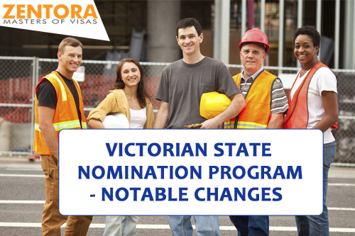 Victorian State Nomination Program- Notable Changes